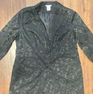 Women's Plus Size Black Floral Blazer 22W/24W